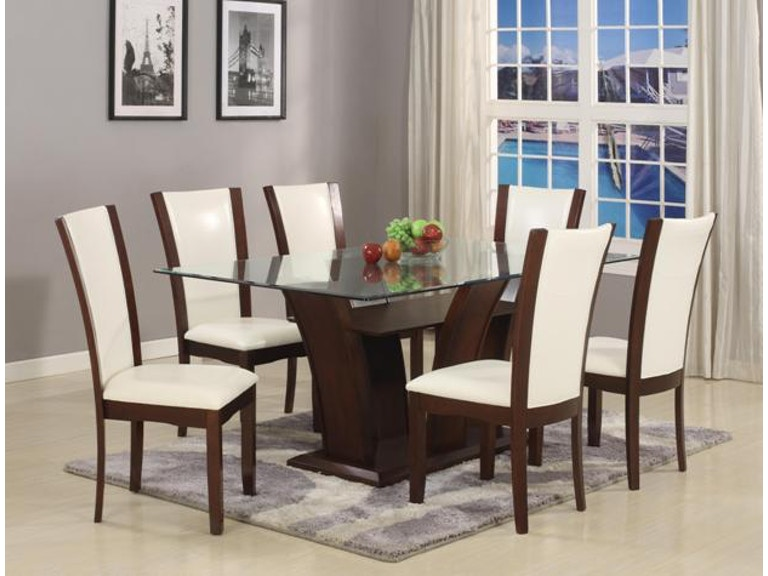 Crown Mark Camelia Dining Table Gl Top 1210t 4272