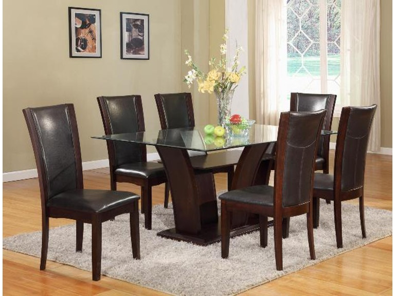 Crown Mark Camelia 42x72 Dining Group Espresso 1210ESP 4272