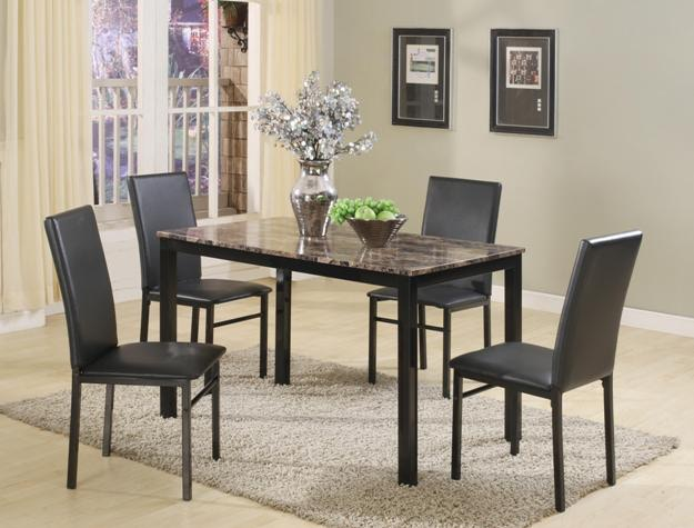 crown mark aiden 5pk dinette 1217set