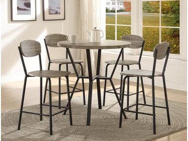 Crown Mark Blake 5 PK Round Counter Height Dinette 1730SET GY