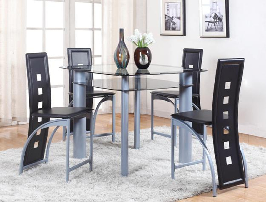 Crown Mark Dining Room Echo Counter Height Table Gl Top