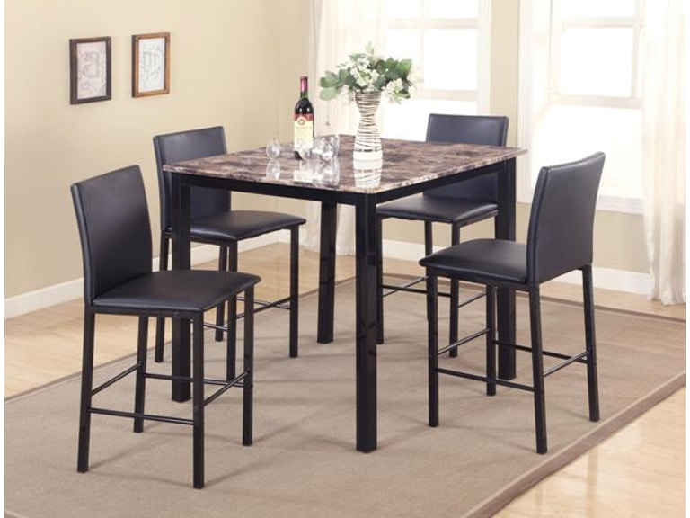 Crown Mark Aiden 5 PK Counter Height Dinette 1817SET
