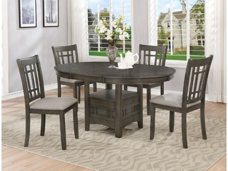 Crown Mark Dining Room Hartwell Dining Group 2195gy 5p