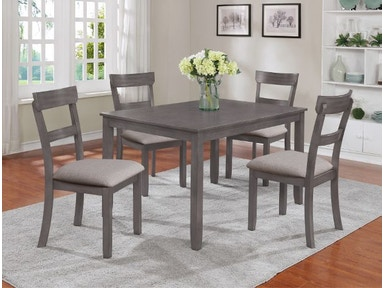 2254SET GY Henderson 5 PK Dinette Set Grey
