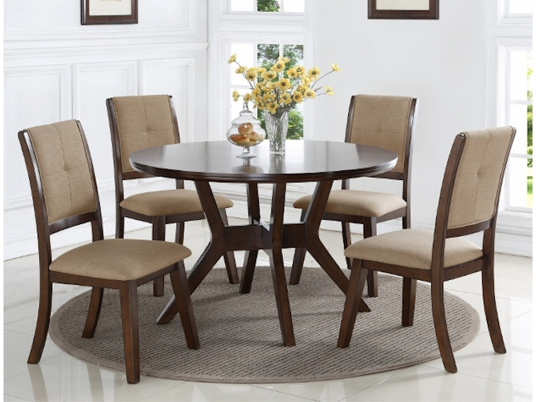 Crown Mark Barney Round Dining Table 2322T 48