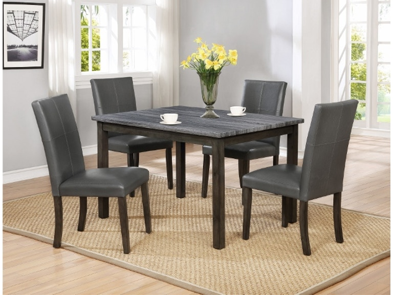 Crown Mark Pompei Dining Table Grey 2377GY T 3648