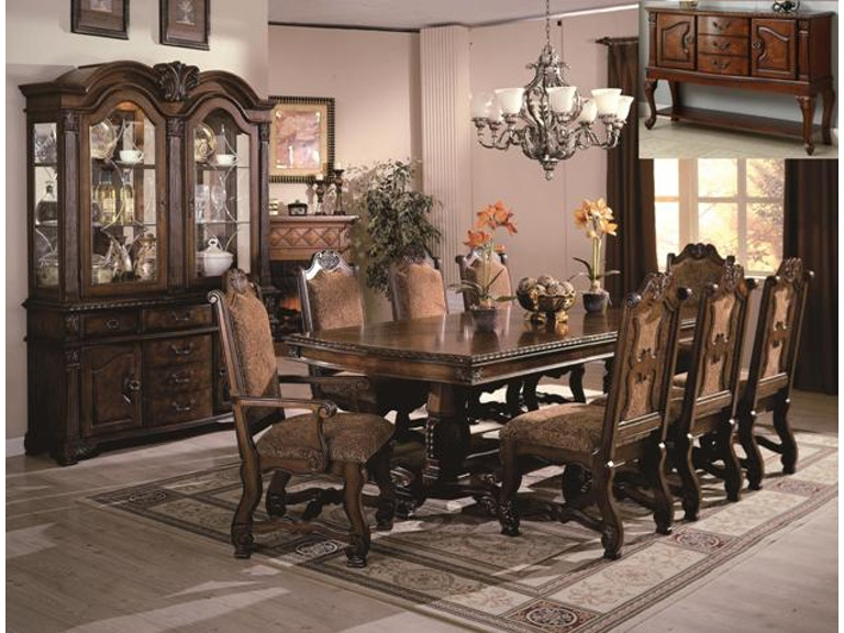 Crown Mark Dining Room Neo Renaissance Table SETD2401