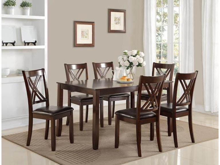 Crown Mark Eloise 7 PC Dinette Set 2430SET