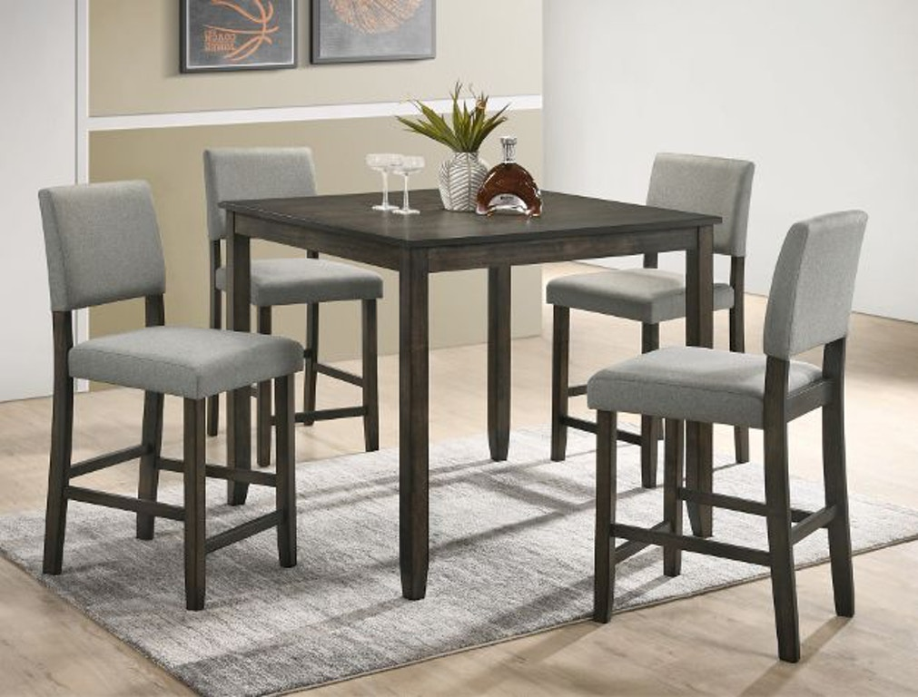 Crown Mark Dining Room Derick 5 Pk Counter Height Table