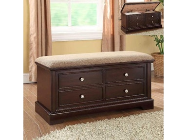 Crown Mark Cedar Seat With Cushion 4925-ASSEMBL