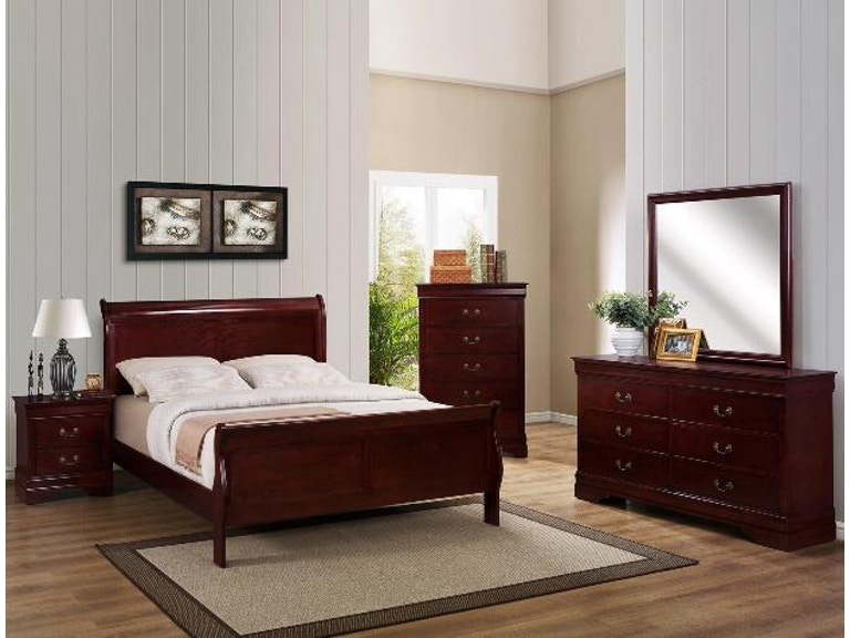 Crown Mark Bedroom Louis Philip Queen Headboard Footboard