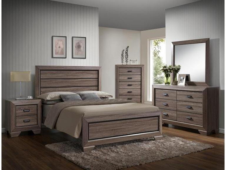Crown Mark Bedroom Farrow Queen HB FB Slats B5500-Q-HBFB - Winner ...