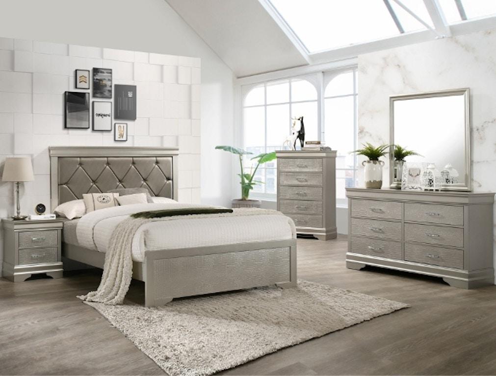 huge discount 6f713 31761 Crown Mark Bedroom Amalia Queen Headboard/Footboard B6910-Q ...