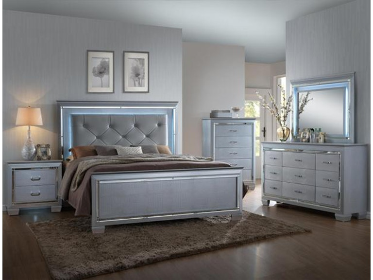 Lilian Bedroom Set (SILVER)(QUEEN) 5pc Set