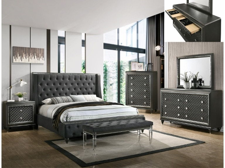 Crown Mark Bedroom Giovani Night Stand B7900 2 At Capital Discount Furniture