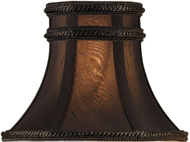 Currey and Company Charcoal Brown Silk Shade 0305