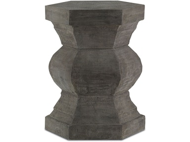 Currey and Company Pagoda Hexagonal Stool 2000-0004
