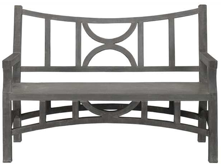 Groovy Currey And Company Outdoor Patio Colesden Bench 2000 0011 Bralicious Painted Fabric Chair Ideas Braliciousco