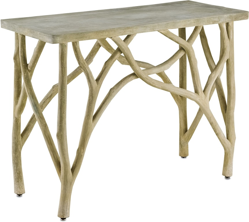 Currey And Company Faux Bois: Currey And Company Living Room Creekside Console Table