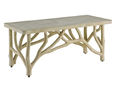 Currey and Company Creekside Table/Bench 2038