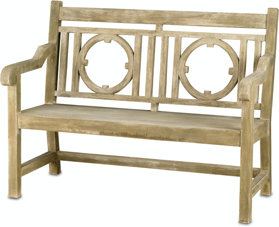 Pleasing Currey And Company Outdoor Patio Leagrave Bench Small 2385 Bralicious Painted Fabric Chair Ideas Braliciousco