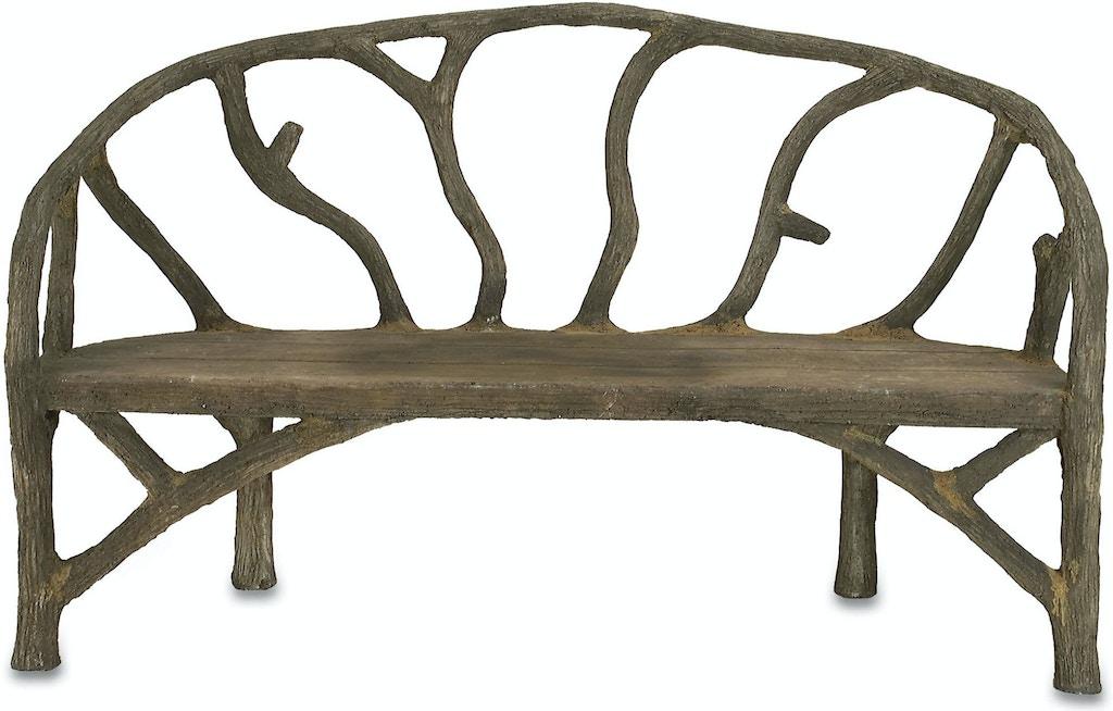 Currey And Company Outdoor Patio Arbor Bench 2700
