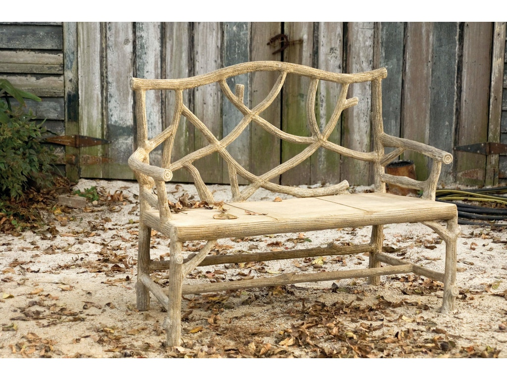 Currey And Company Outdoorpatio Woodland Bench 2705 Hickory Furniture Mart Hickory Nc