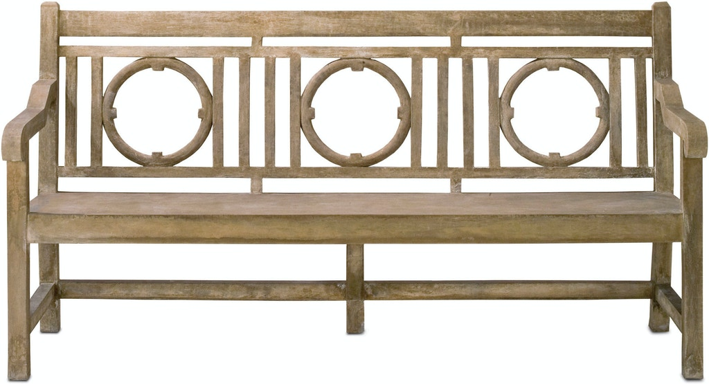 Surprising Currey And Company Outdoor Patio Leagrave Bench 2722 Noel Bralicious Painted Fabric Chair Ideas Braliciousco