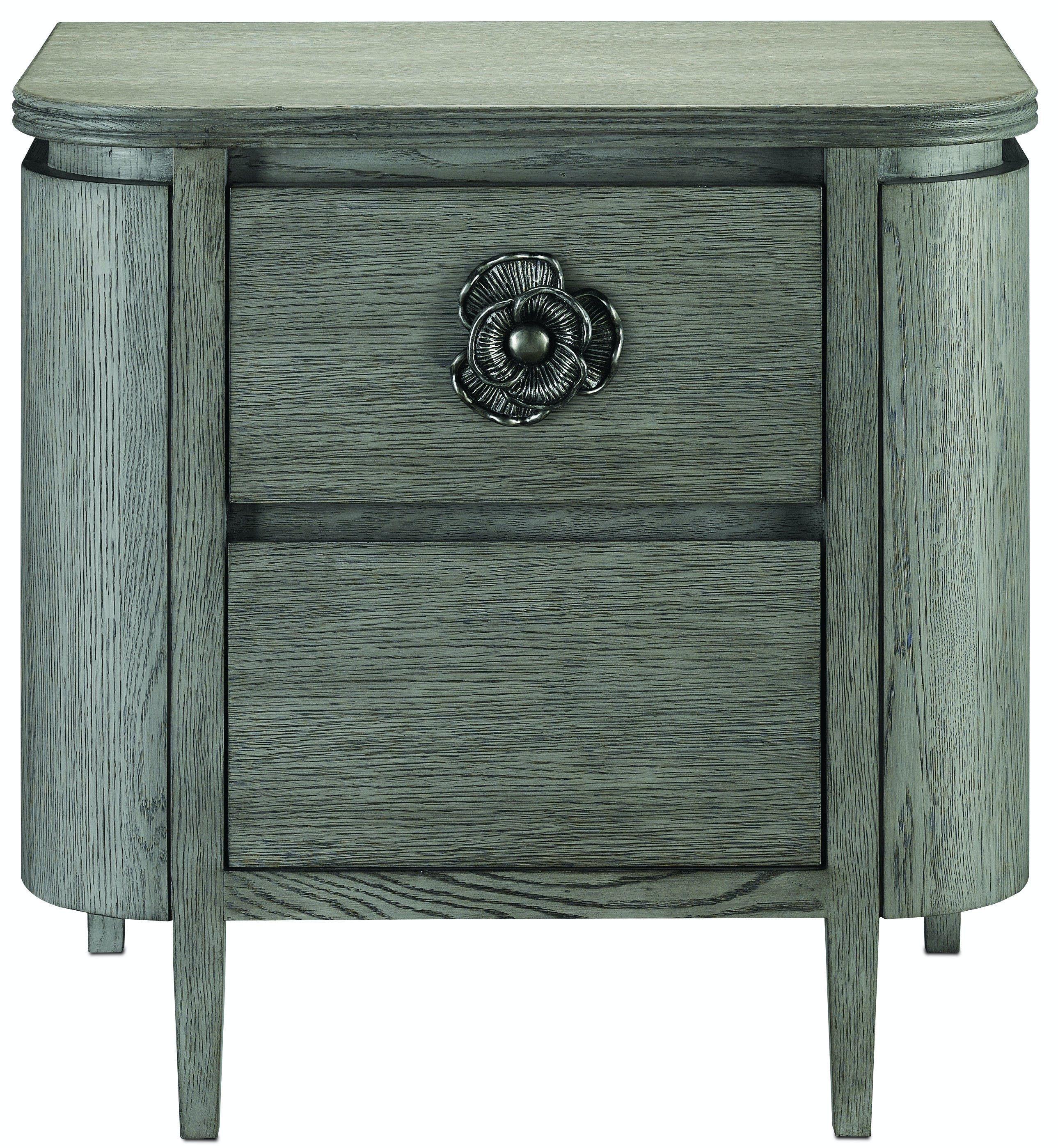 Currey And Company Bedroom Briallen Nightstand Winter Gray Cy30000099 Walter E Smithe Furniture Design