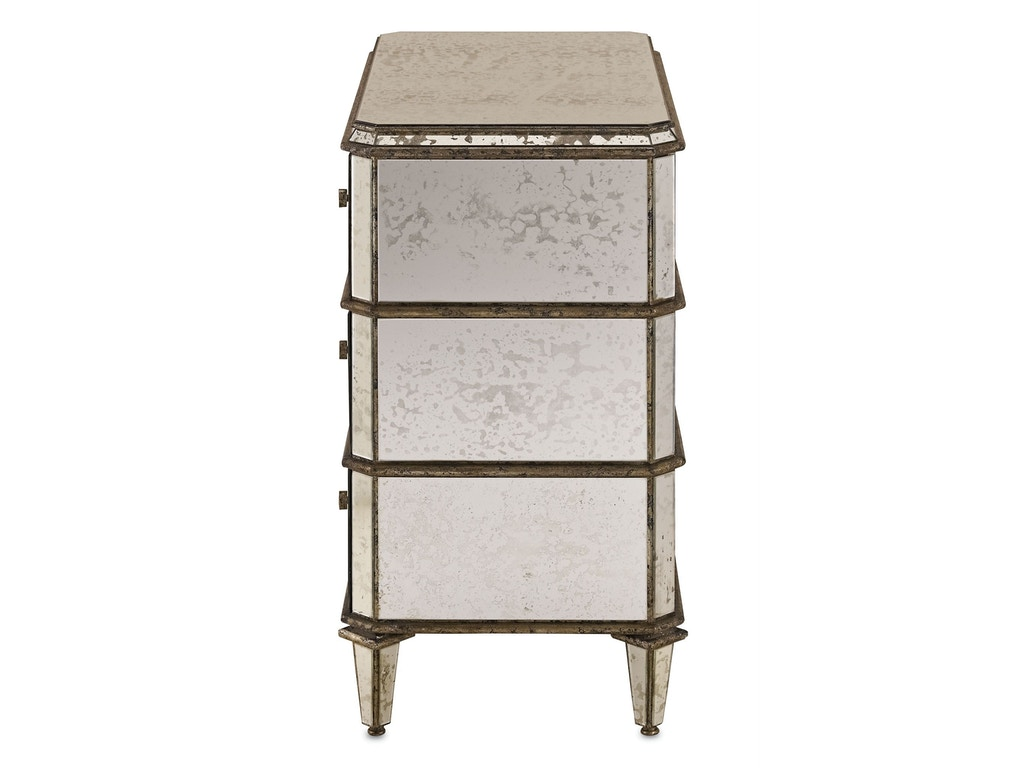 Antiqued Mirror Chest Cy4204