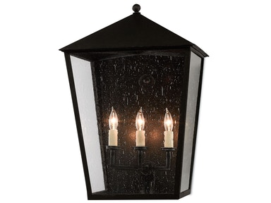 Currey and Company Bening Outdoor Wall Sconce 5500-0010