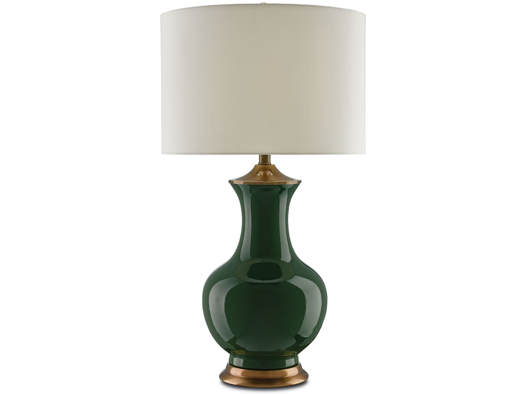 Currey And Company Lamps And Lighting Lilou Green Table Lamp 6000 0022 Coastal Home Hilton Head