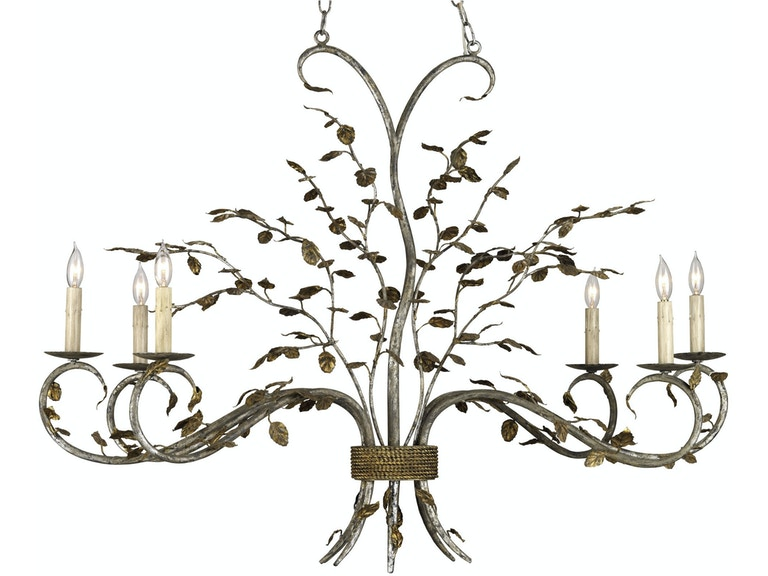 Currey And Company Raintree Oval Chandelier Cy9021 From Walter E Smithe Furniture Design