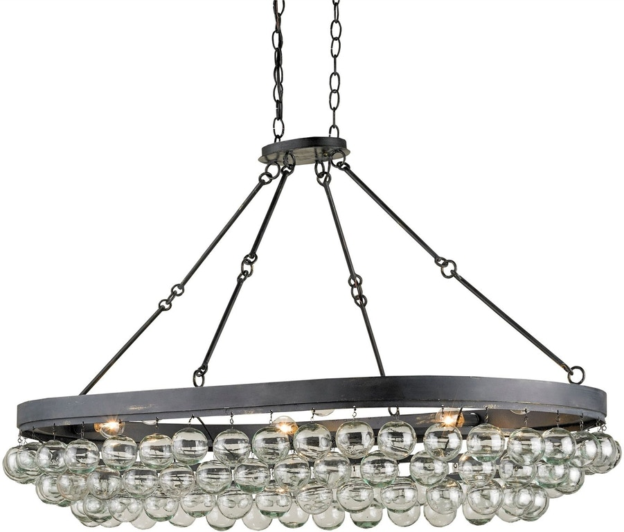 Currey And Company Stratosphere: Balthazar Oval Chandelier CY9888