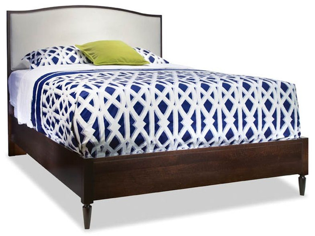 Queen Upholstered Arch Top Bed Nc900122