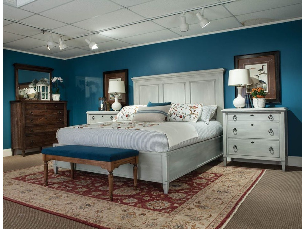Durham Furniture Bedroom Queen Panel Bed 145 124 Stowers Furniture San Antonio Tx