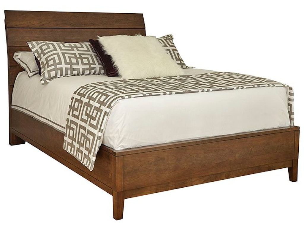 Durham furniture bedroom wood plank bed with wooden base for Furniture 124