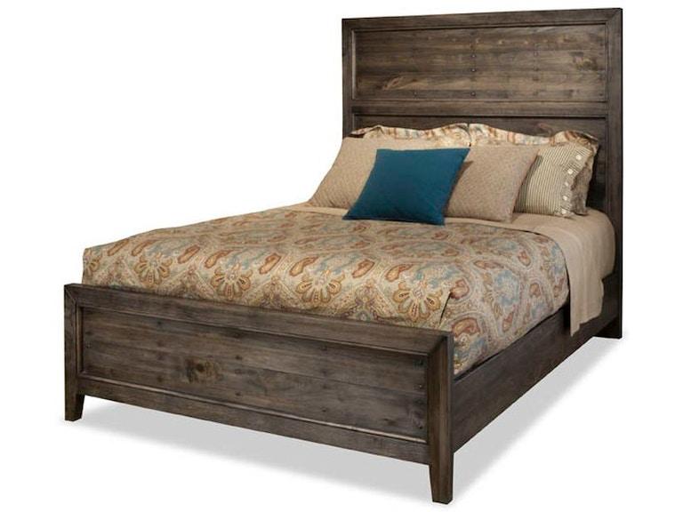 Durham furniture bedroom queen panel bed distillery 910203p naturwood home furnishings for Bedroom furniture in sacramento