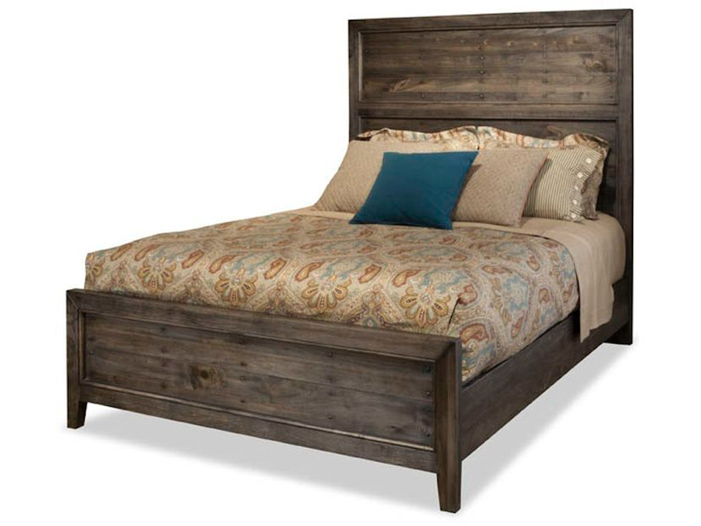 Durham furniture bedroom queen panel bed 401 124 hickory for Furniture 124