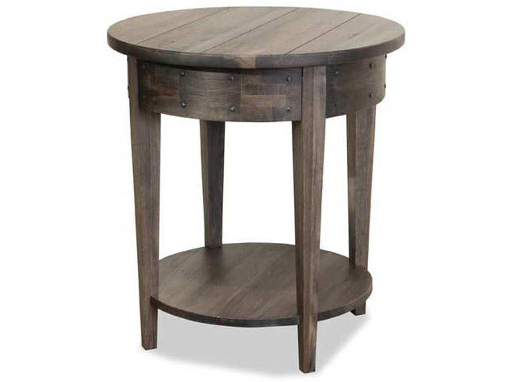 Durham Furniture Living Room Distillery Round Lamp Table