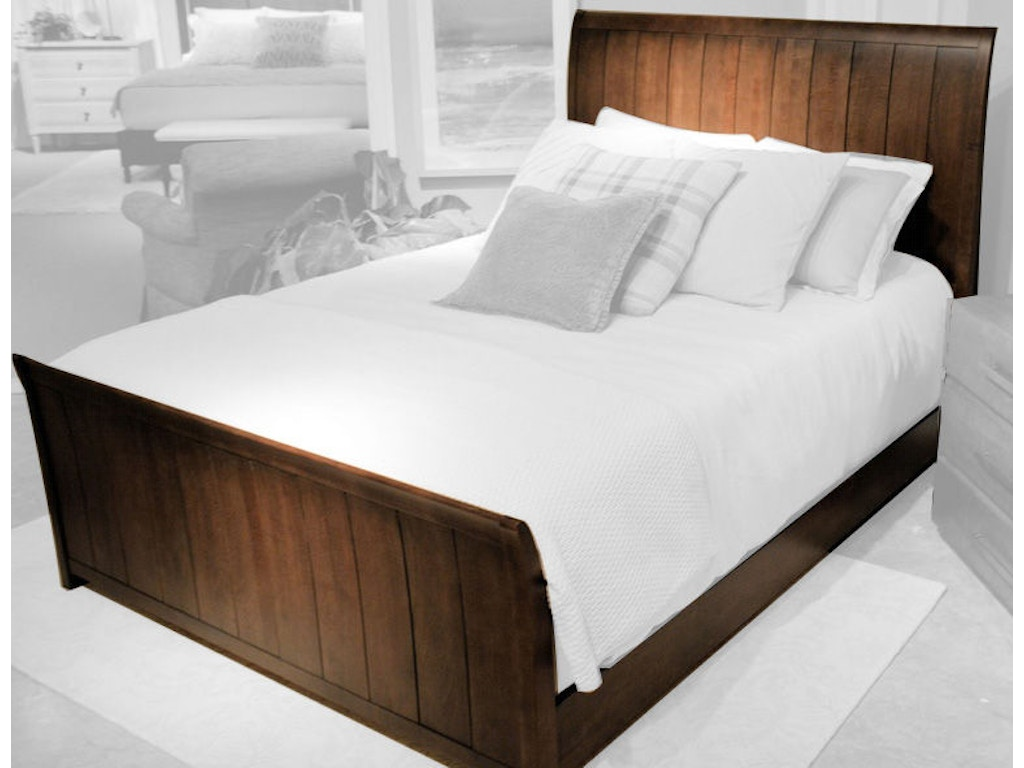 Durham Furniture Bedroom Contemporary Sleigh Bed 900 127 Grossman Furniture Philadelphia Pa