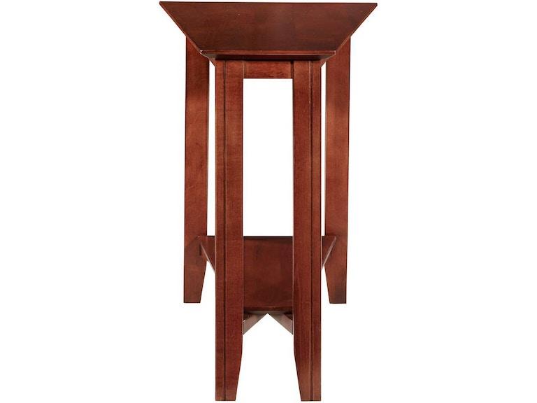 12a4314a04c5 Durham Furniture Living Room Eclectic Shelf Wedge Table 900-566G -  Cottswood Interiors - Edmonton