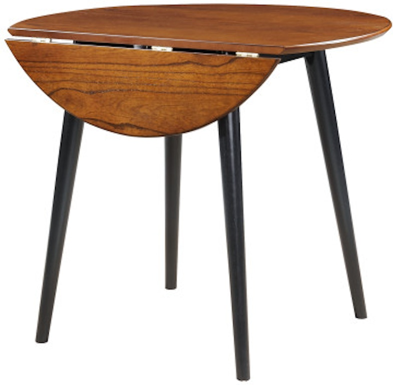 Emerald Home Furnishings Dining Room Round Folding Dining Table Cherry Black D475 12 06 Simply