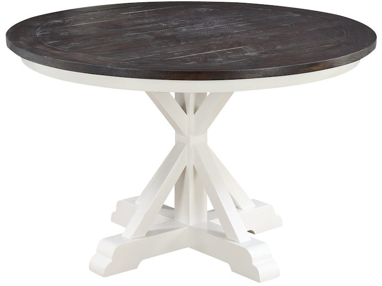 Emerald Home Furnishings Dining Room Complete Round Dining - 48 round white pedestal table