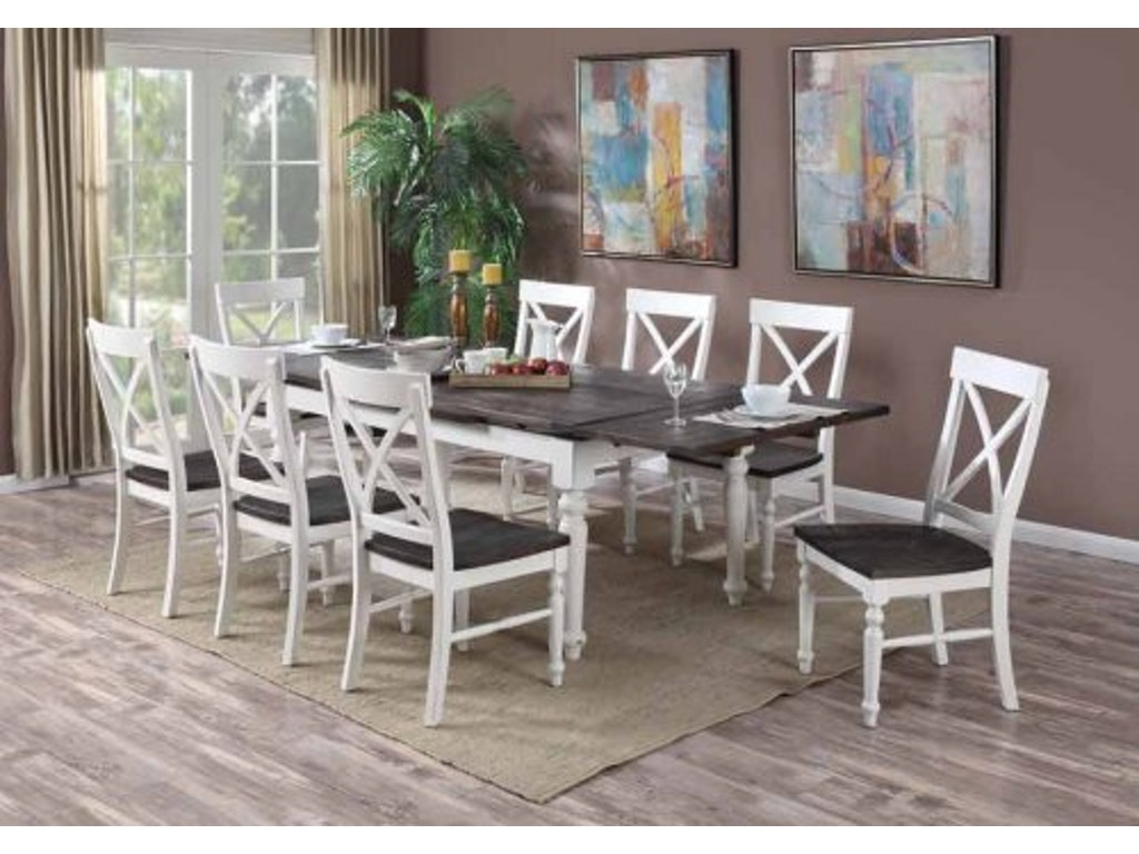 Emerald Home Furnishings Mountain Retreat Extension Dining