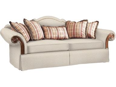 Fine Furniture Design Living Room Sofa With Wood Arm Panel