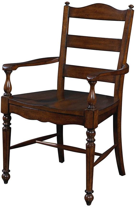Fine Furniture Design Dining Room Ladder Back Arm Chair