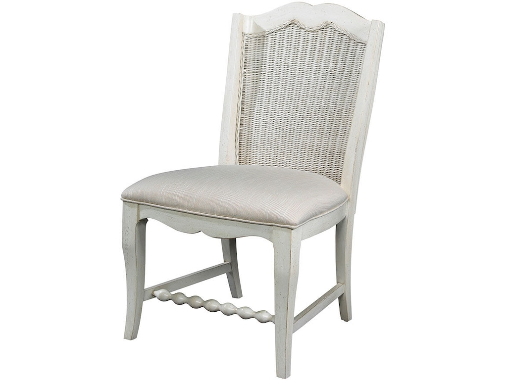 Fine furniture design dining room wicker back side chair - Woven dining room chairs designs ...