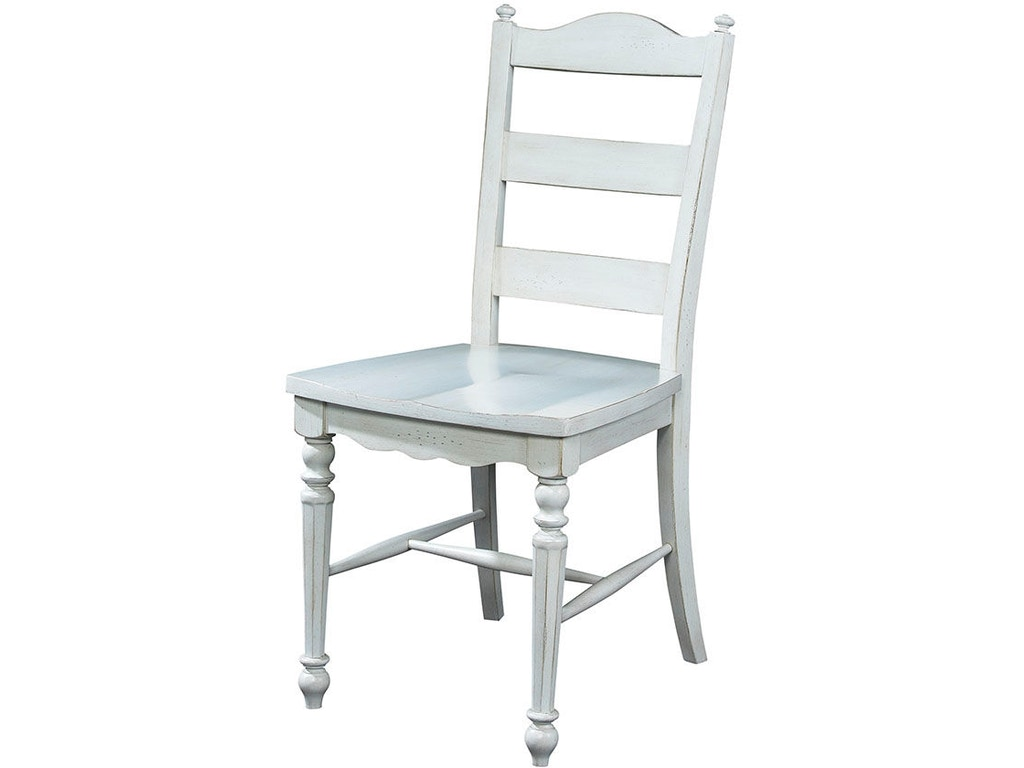 Fine furniture design dining room ladder back side chair 1051 826 kalin home furnishings Home design furniture ormond beach fl