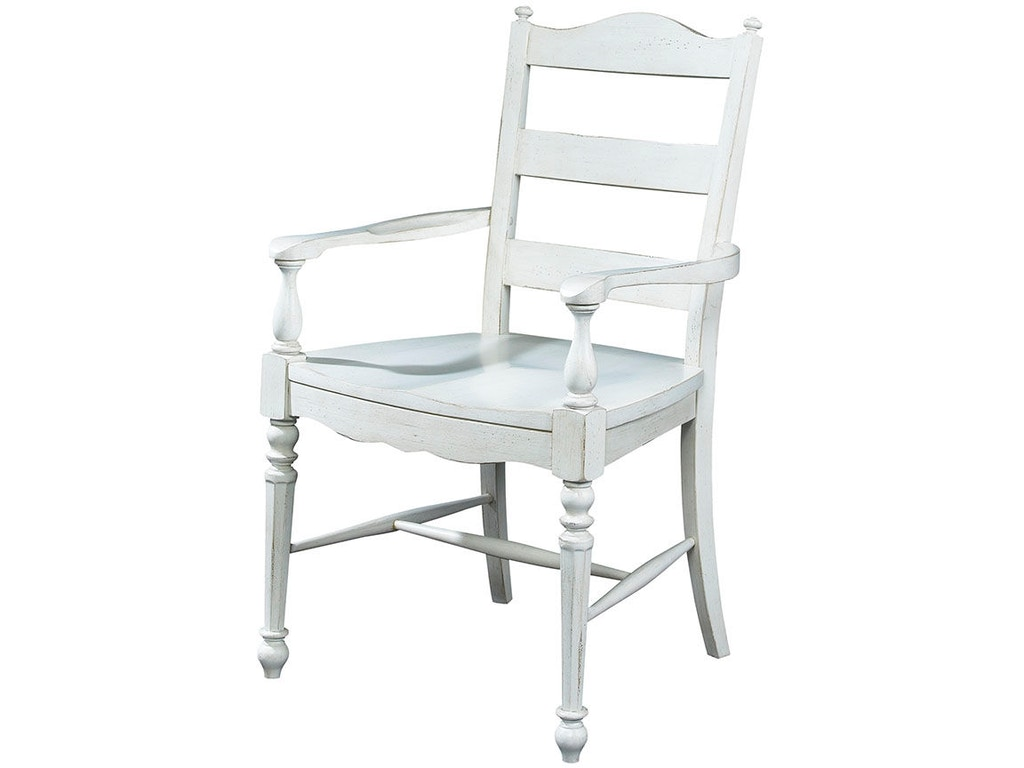 Fine Furniture Design Dining Room Ladder Back Arm Chair 1051 827 Kalin Home Furnishings